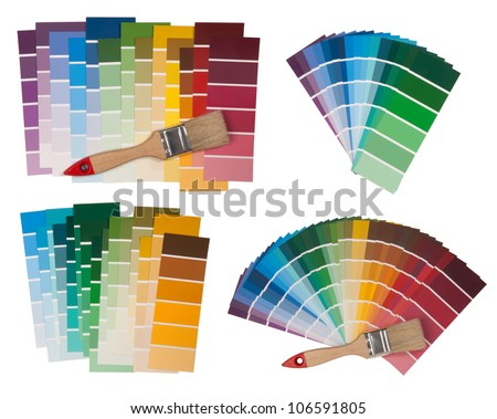 Color swatches isolated on white background