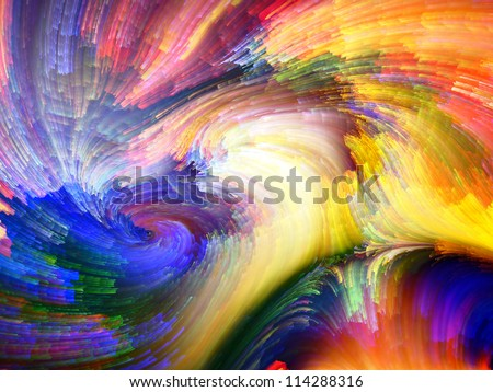 Color Swirls Series. Composition of  streaks of digital paint to serve as a supporting backdrop for projects on art, design and creativity