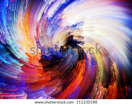 Color Swirls Series. Visually attractive backdrop made of streaks of digital paint suitable as background for layouts on the subject of art, design and creativity