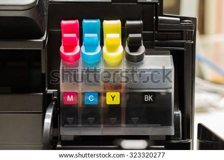 Color tank on ink jet printer