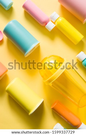 Color textured background made with different  object with different color and  tonality disposed in diagonal path, group of objects aligned