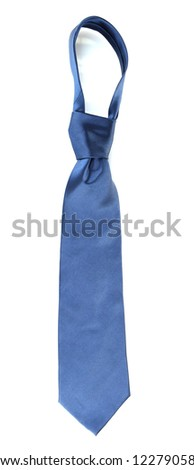 Color tie isolated on white - stock photo