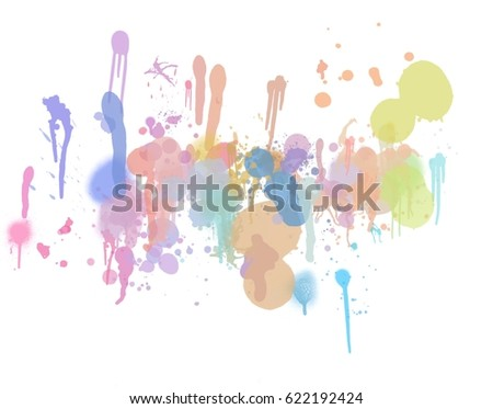 color trickle illustration abstract background - Shutterstock ID 622192424