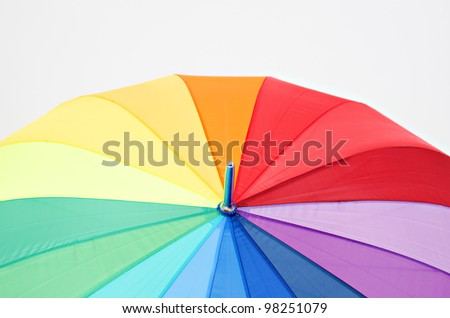 Color umbrella isolated on grey