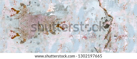 Color, vivid seamless grunge texture. Abstract background pattern. Grunge colorful repetitive template, print, decor, element. Vintage, weathered design. Horizontal orientation image. #1302197665
