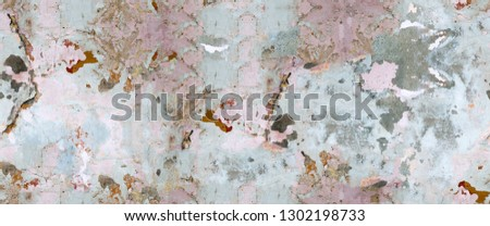 Color, vivid seamless grunge texture. Abstract background pattern. Grunge colorful repetitive template, print, decor, element. Vintage, weathered design. Horizontal orientation image. #1302198733