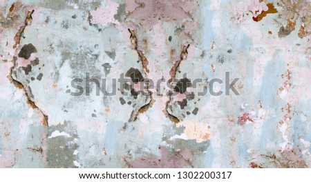 Color, vivid seamless grunge texture. Abstract background pattern. Grunge colorful repetitive template, print, decor, element. Vintage, weathered design. Horizontal orientation image. #1302200317