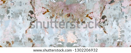 Color, vivid seamless grunge texture. Abstract background pattern. Grunge colorful repetitive template, print, decor, element. Vintage, weathered design. Horizontal orientation image. #1302206932