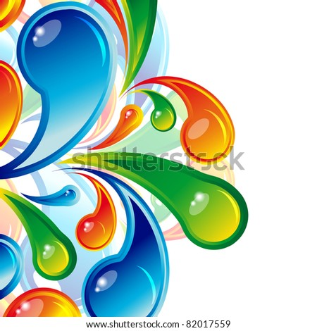 Color water drops background.