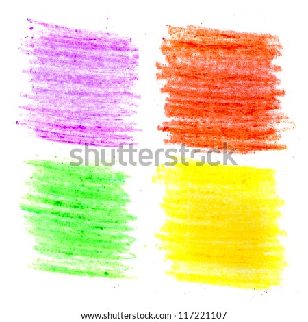 Color wax pencils background set