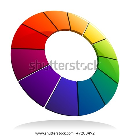 Color Wheel 3D. See my portfolio for more color wheels.