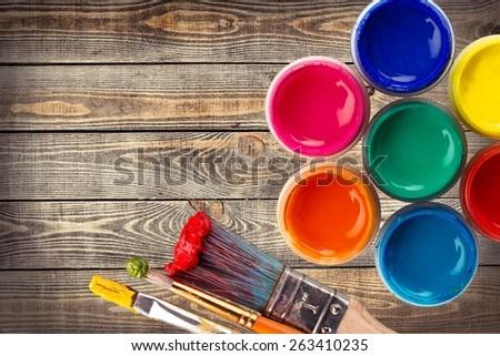Color Wheel. Open Paint Tins ( Color wheel )