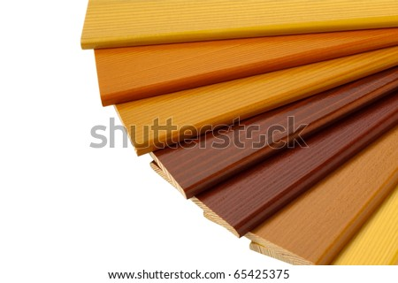 Color wood samples