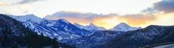 Colorado Aspen and Snowmass winter landscape