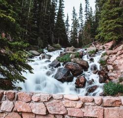 Colorado Berthoud pass waterfall mountains