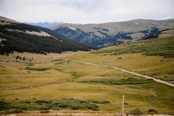 Colorado Continental Divide with Mountains
