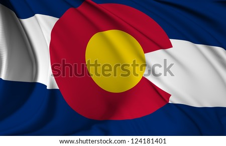 Colorado flag - USA state flags collection no_3 - stock photo