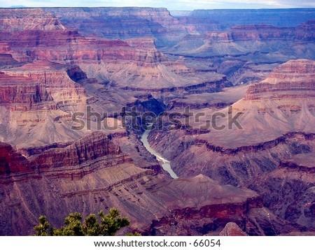 Colorado Fluss am Boden vom Grand Canyon - stock photo