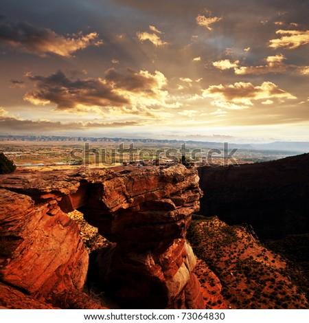 Colorado Monument in USA