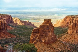 Colorado Monument Landscape near Grand Junction, Colorado, United States.