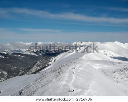 colorado mountain in winter - stock photo