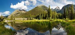 Colorado Mountain Lake Panorama in the Rocky Mountains