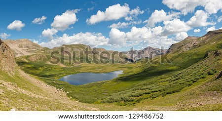Colorado Mountain Lake Panorama, Rocky Mountains, USA