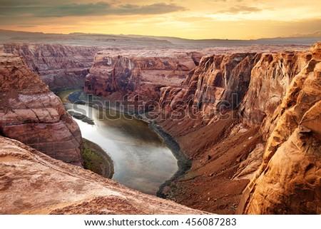 colorado river deep canyon...