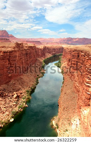 Colorado River flows through the Grand Canyon