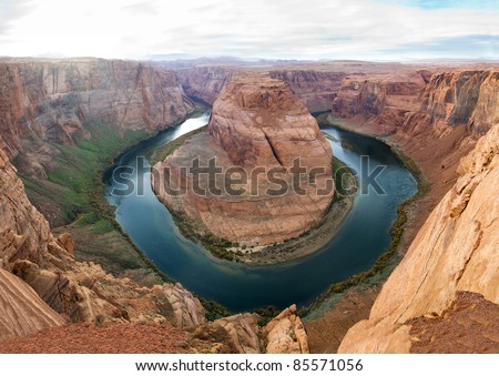 Colorado River winds through the canyon walls of Horseshoe Bend, near the Grand Canyon