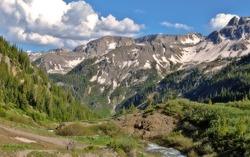 Colorado Rockies outside of Telluride, elevation twelve thousand feet.