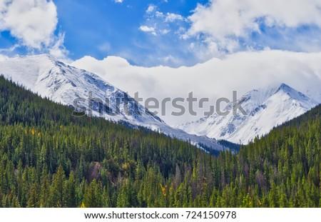 Colorado Rocky Mountains Fall First Snow