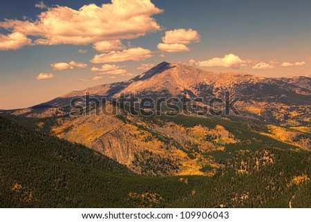 Colorado Rocky Mountains in the Autumn