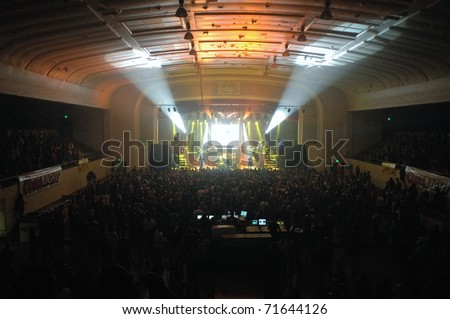 COLORADO SPRINGS, CO. USA - AUGUST 7: Heavy metal band Godsmack performs in concert August 7, 2007 at the City Auditorium in Colorado Springs, CO. USA - Shutterstock ID 71644126
