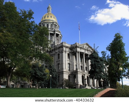 Colorado State Capitol Building in Denver - stock photo