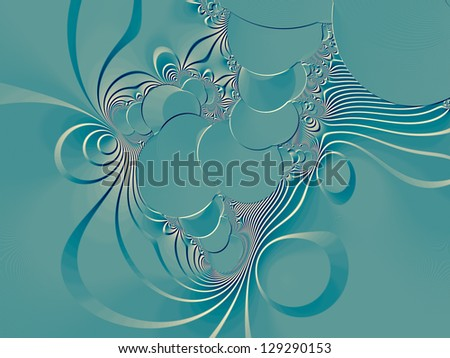 Colored Abstract fractal embossed background