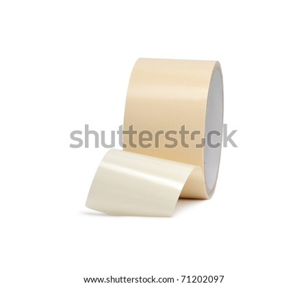 Colored adhesive tape on a white background. Isolated