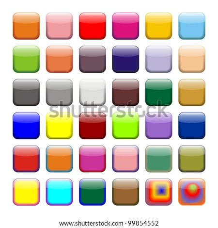 Colored App Buttons, Icons