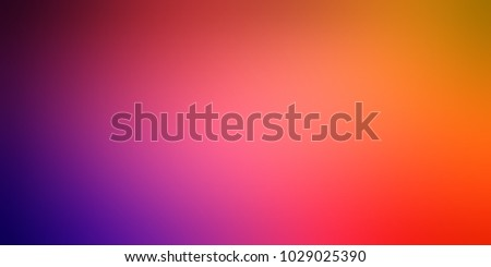 Colored banner. Blurred texture violet pink red yellow gradient. Empty background ombre. Defocus pattern colorful. Abstract template.