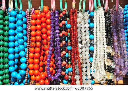 Colorful Bead Necklace Colored Bead Necklaces For