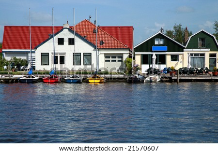 Colored boats for rent Friesland, Netherlands