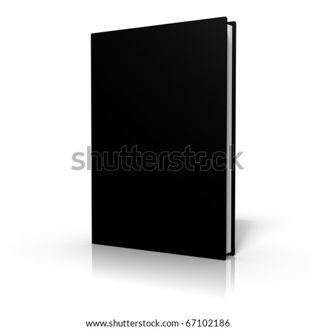 Colored book cover on white background
