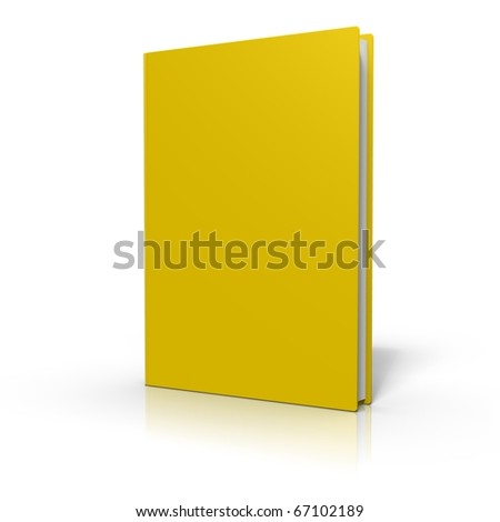 Colored book cover on white background - stock photo