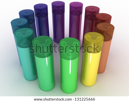 Colored cans