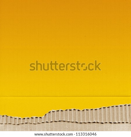 colored cardboard background paper texture - yellow