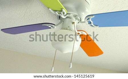 Colored Ceiling Fan