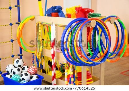 Colored children's sports equipment - Shutterstock ID 770614525