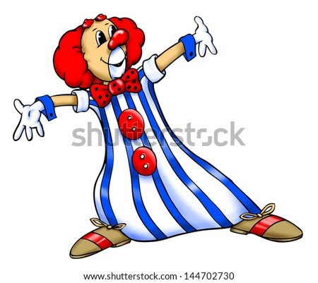 colored clown illustration