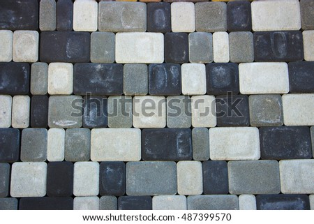 colored concrete paving slab texture, building material, background close-up #487399570