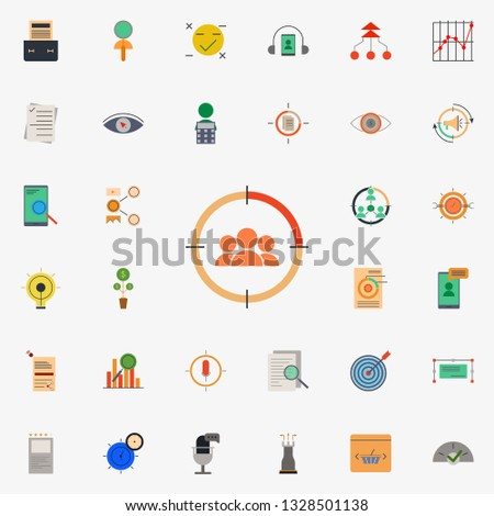 colored demographic target icon. marketing and business and digital marketing icons universal set for web and mobile